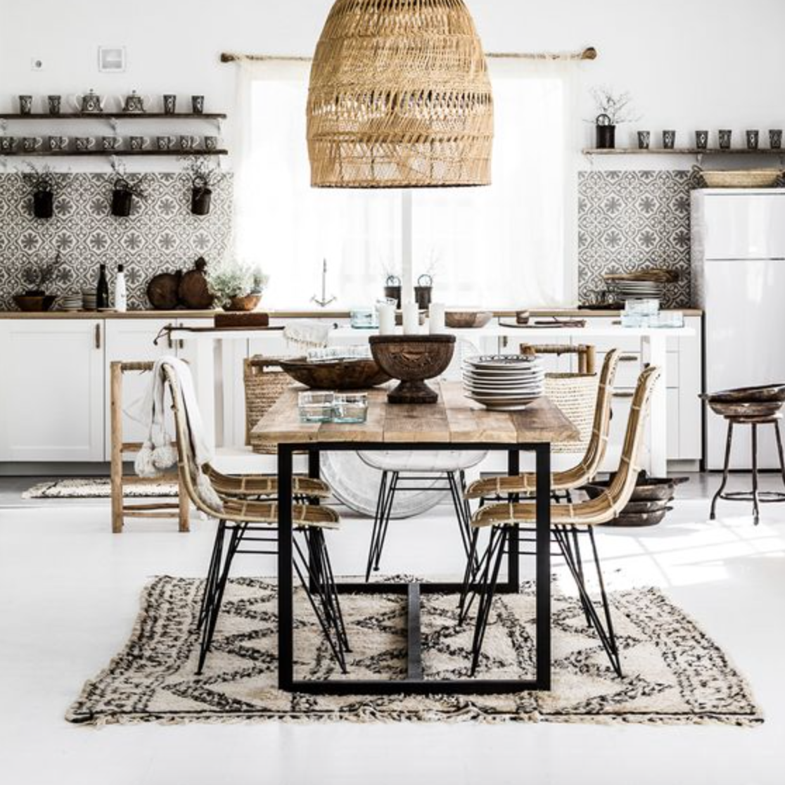 19 Urban Dining Room Designs Decorating Ideas: I Just Love Enormous Woven Lights