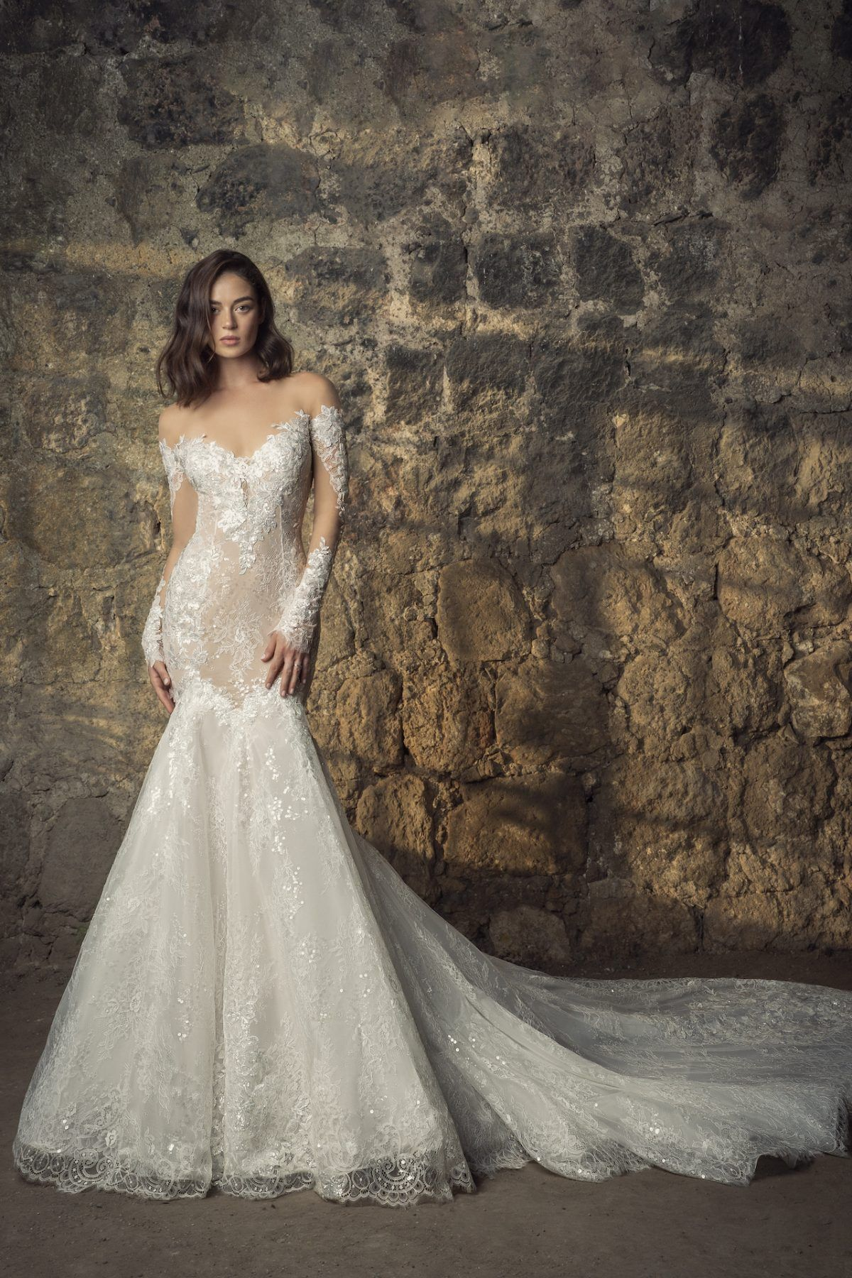 Off The Shoulder Long Sleeve Lace Mermaid Wedding Dress With Sequin Floral Appliques Kleinfeld Bridal Long Sleeve Wedding Dress Lace Mermaid Long Sleeve Wedding Dress Lace Mermaid Wedding Dress With Sleeves [ 1800 x 1200 Pixel ]