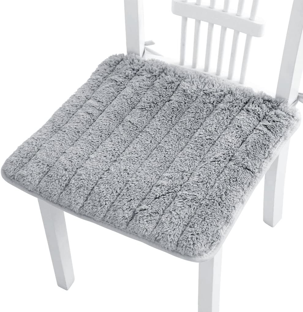Super Soft Plush Chair Cushion with Tie Winter
