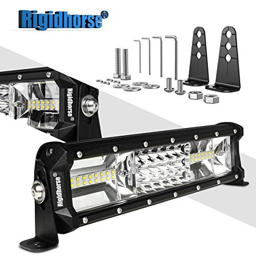 Led Light Bar Rigidhorse Triple Row 12 Inch 108w Led Work Light Spot Flood Combo Led Lights Led Bar Drivin Led Work Light Bar Lighting Led Light Bars