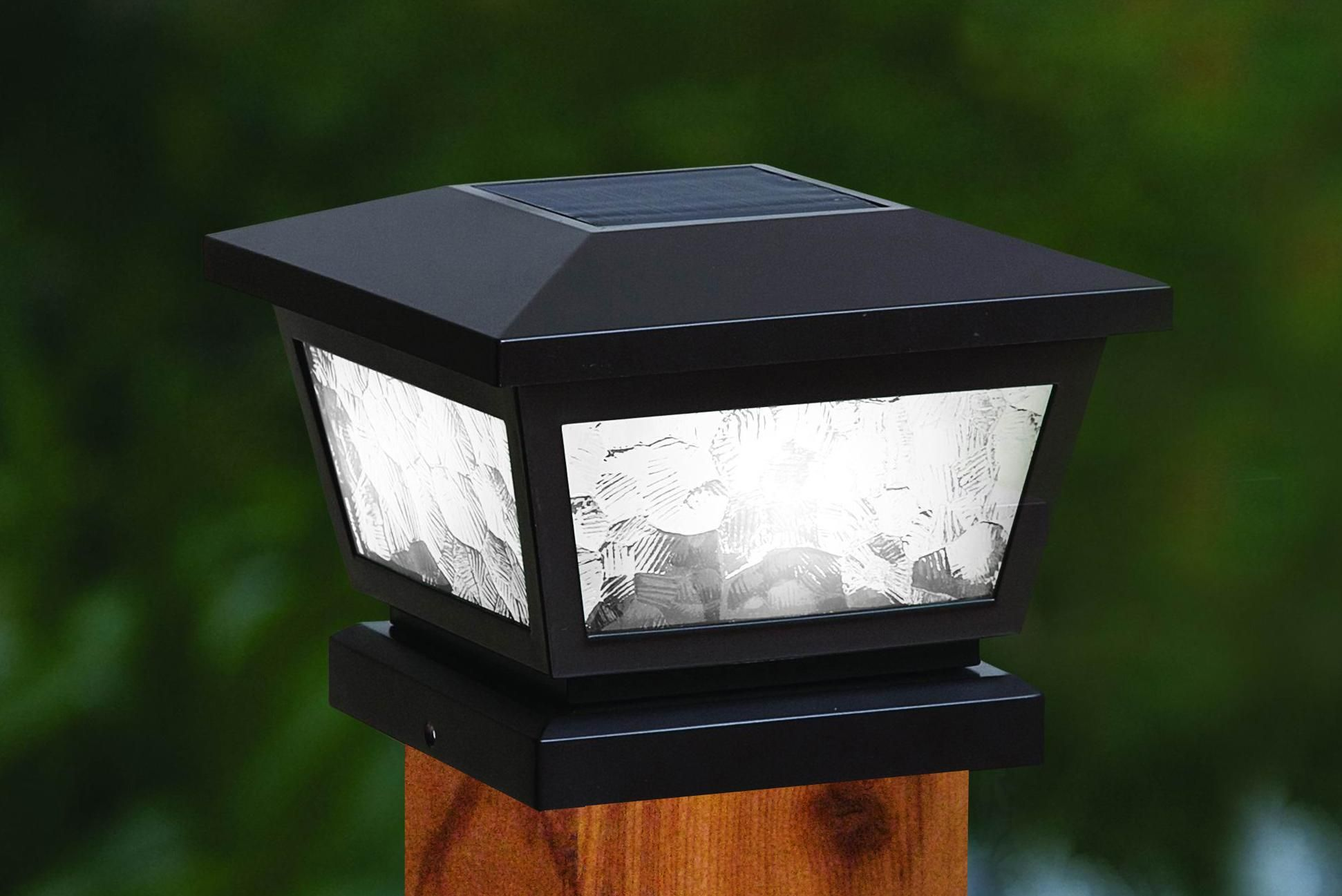 5x5 4x4 3 5x3 5 Black Fairmont Solar Post Cap Fs100b Elite Fixtures