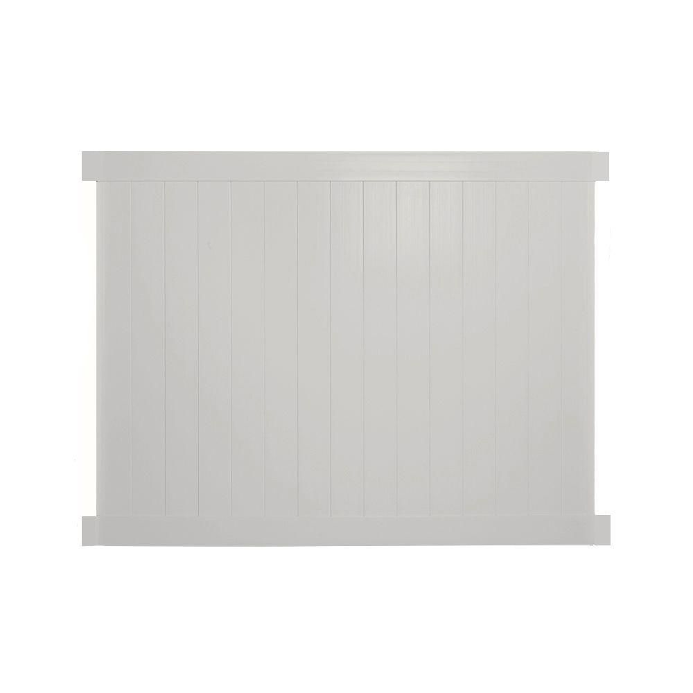 Savannah 6 ft. H x 8 ft. W Tan Vinyl Privacy Fence Panel