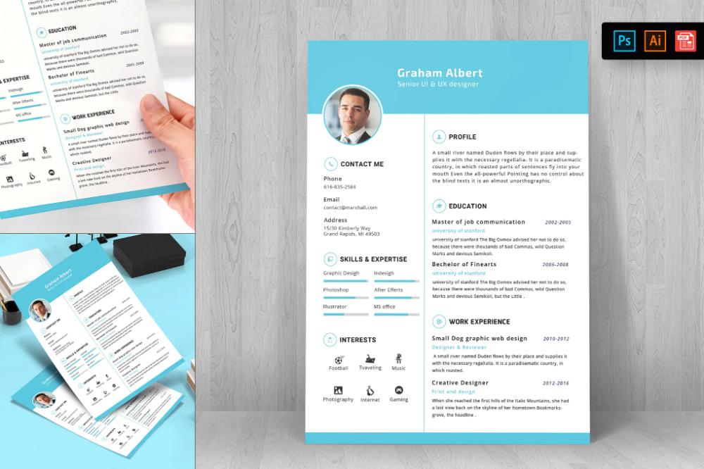 Resume Cv Template 21 Von Digitalheaps Auf Envato Elements