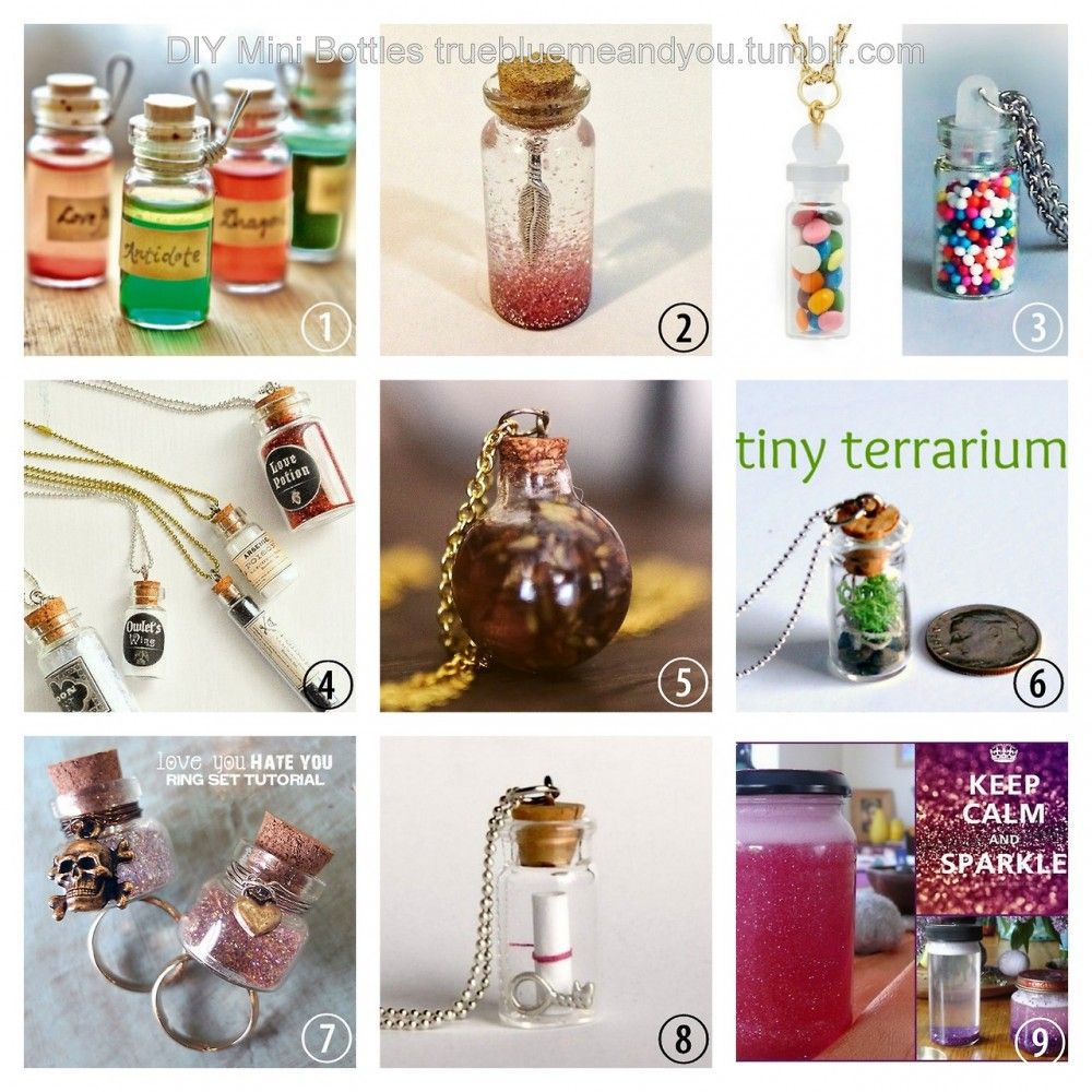 Diy Mini Bottle Necklace Archives Diy Christmas Crafts Mini