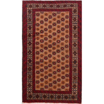 Isabelline One Of A Kind Kittrell Traditional Balouch Bokara Persian Hand Knotted 3 1 X 5 5 Wool Beige Red Area Rug Beige Area Rugs Area Rugs Colorful Rugs
