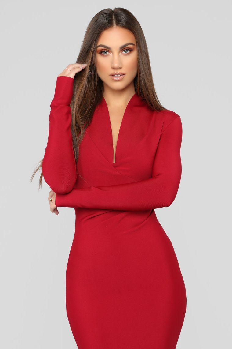 Lips Like Sugar Bandage Dress Red Bandage dress, New