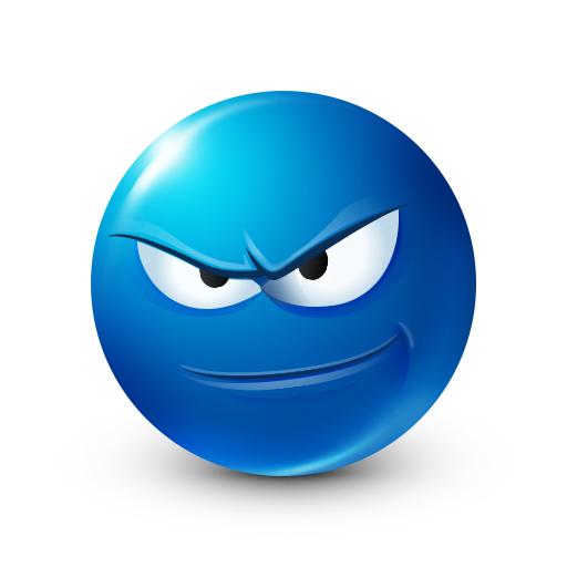 Serious Smiley Blue Smileys Smiley Emoticon Smiley Emoji