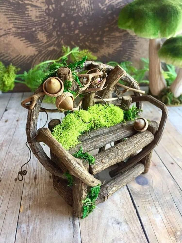 Ordinaire 20+ Affordable DIY Fairy Garden Ideas (twig Crafts Fairy Furniture)