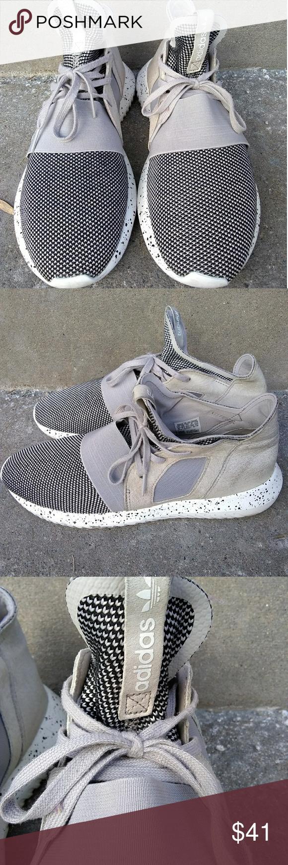 Adidas Tubular Defiant Size 9 | Grey adidas shoes, Adidas tubular ...