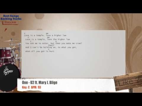 One - U2 ft. Mary J. Blige Drums Backing Track with chords and ...