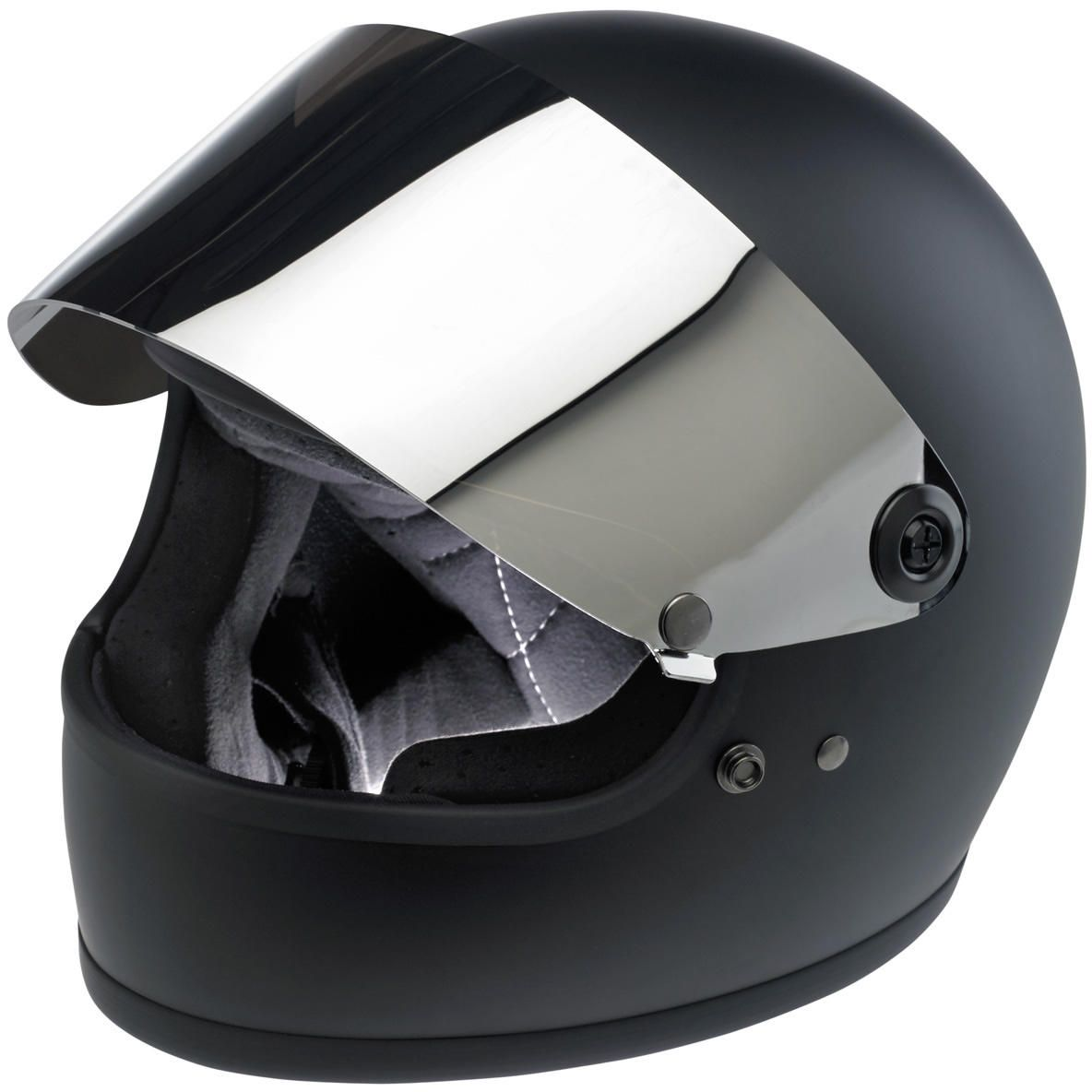 Biltwell Gringo Helmet Blast Shield Smoke, Large