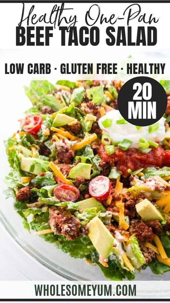Easy Healthy Taco Salad Recipe with Ground Beef