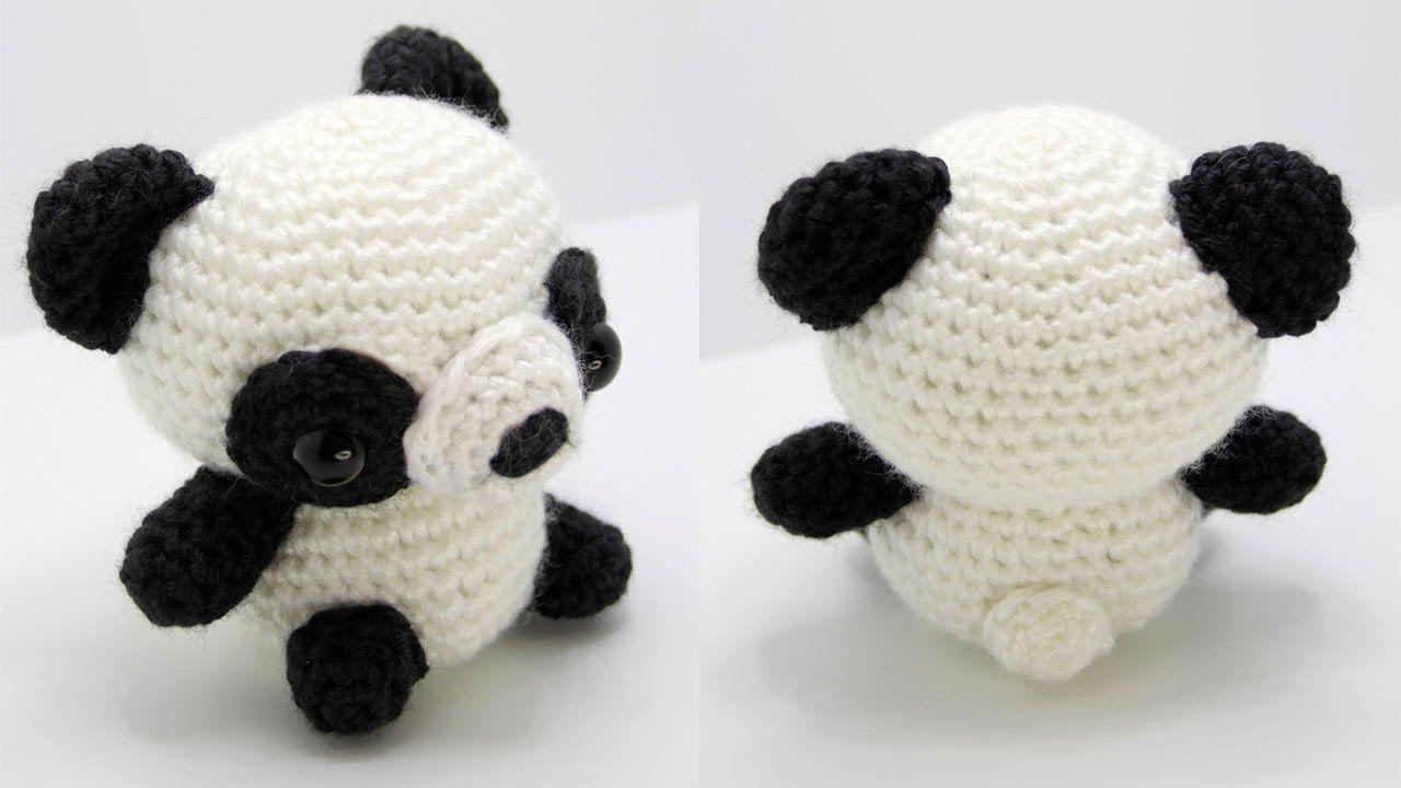 Panda Amigurumi Crochet Tutorial Part 1 | patroncillos | Pinterest ...