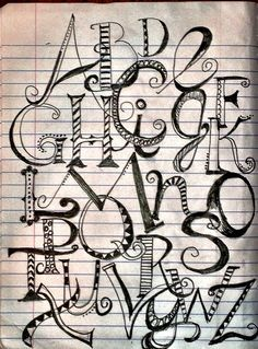 Creative Lettering Styles Alphabet Composition By