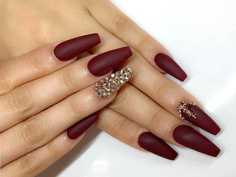 27 Amazing Burgundy Nail Designs Of 2018 Fashion Star Burgundy Nail Designs Matte Nails Design Burgundy Nails