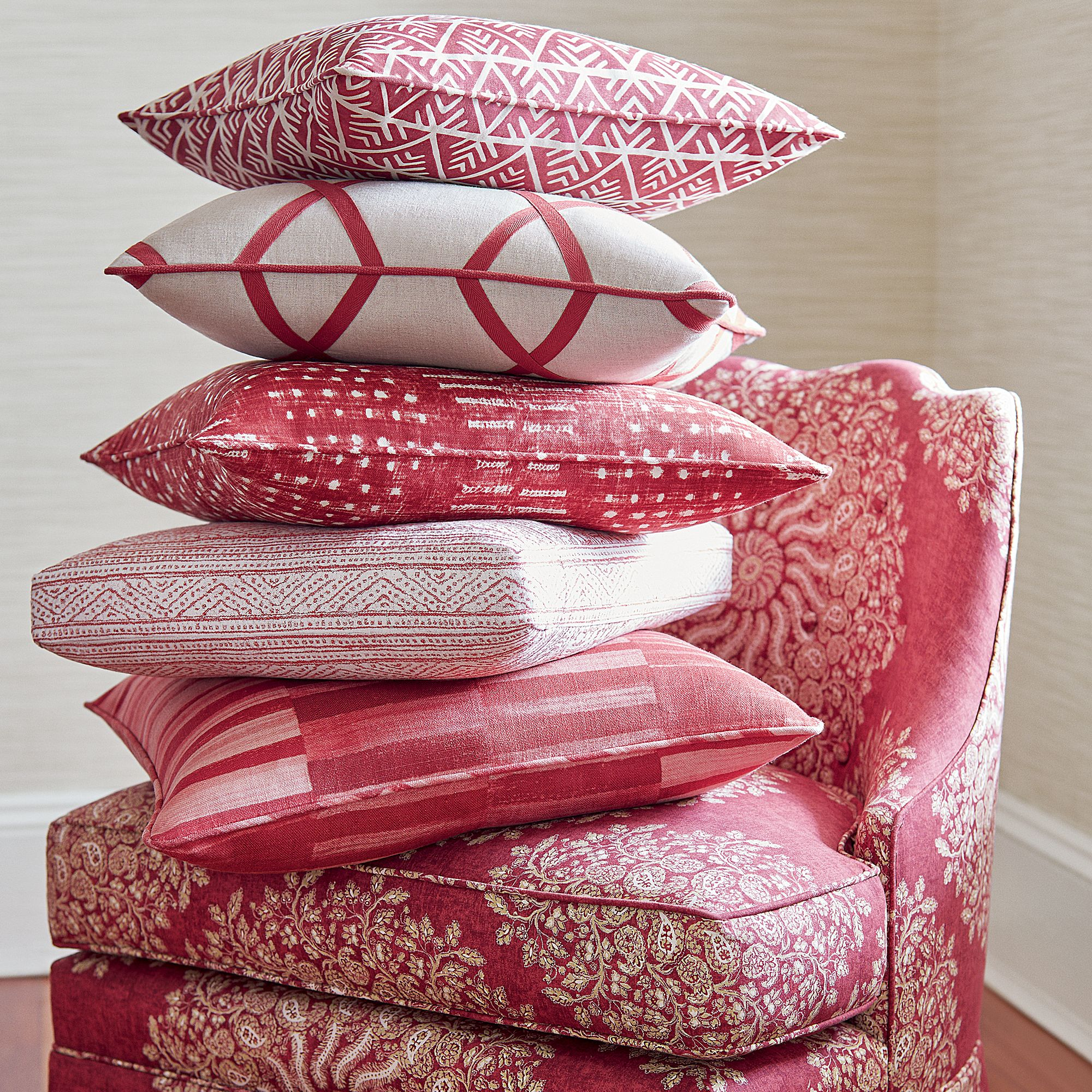 Red Group from Palampore Collection Bright fabrics, Anna