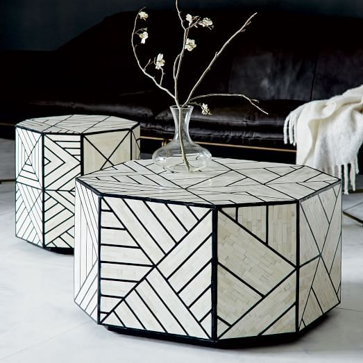 bone inlaid coffee table | coffee, tables and living rooms
