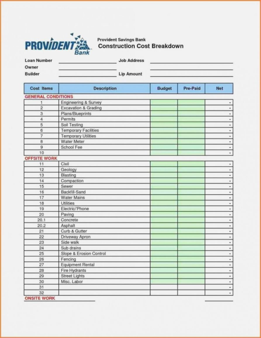Editable Spreadsheet House Building Budget Construction Xls Worksheet Building Cost Spreadshe Budget Spreadsheet Excel Budget Template Estimate Template