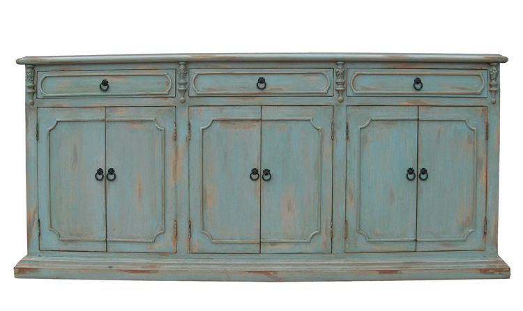 Buffet Mocha Large Pale Blue Furniture Finds More With
