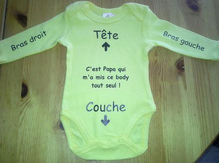 Body humoristique pour bébé