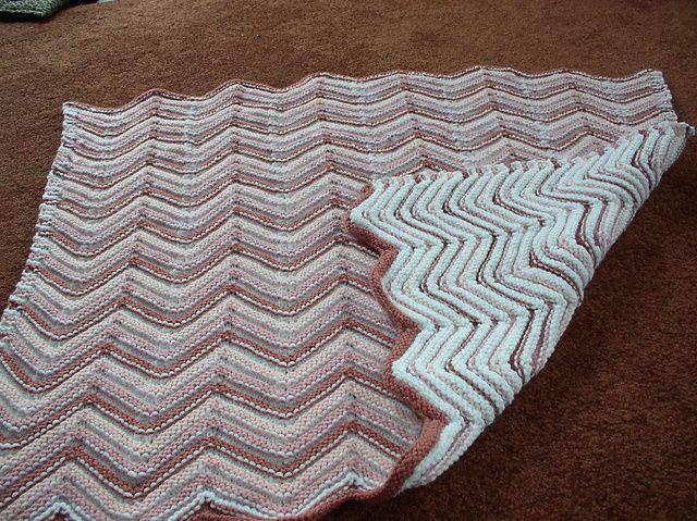 Ravelry V Pattern Reversible Baby Blanket Pattern By