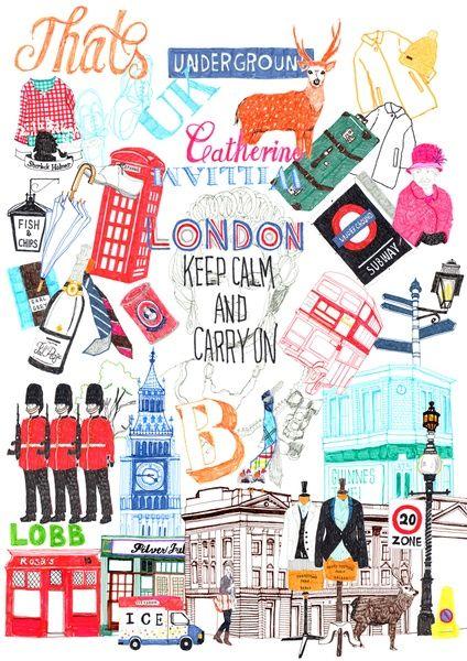 London Shogosekine イラストマップ イラストレーション 手描きイラスト