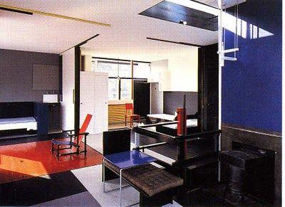 Gerrit Rietveld, Schroder House, interior | bauhaus | Pinterest ...