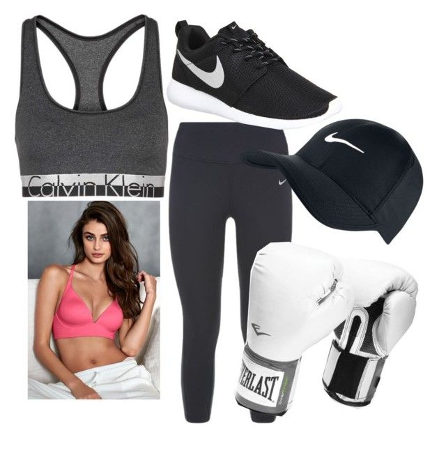 """Boxing with Taylor Hill"" by vanessabeckham ❤ liked on Polyvore featuring NIKE, Calvin Klein and Everlast"