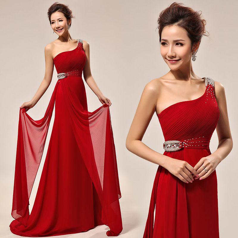 Vestidos de noche rojo 2014