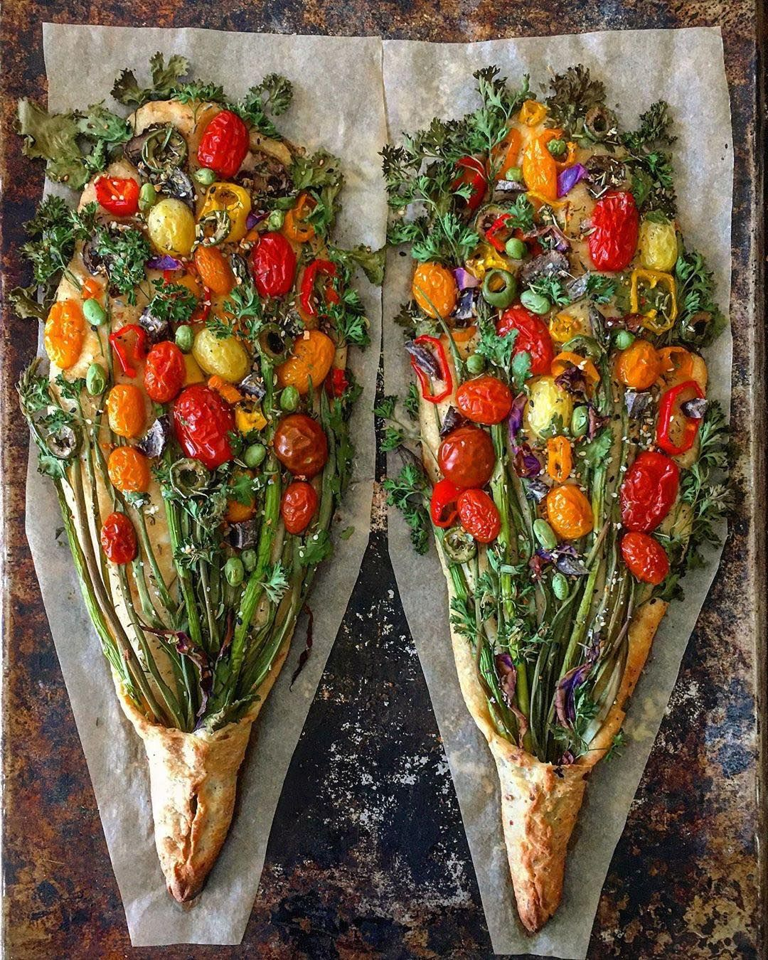 Sourdough Veggie Bouquets The Dough Base Has Course Corn Meal Garlic And Colby Cheese The Bouquet Itself Included Scallions As In 2020 Recipes Food Beautiful Food