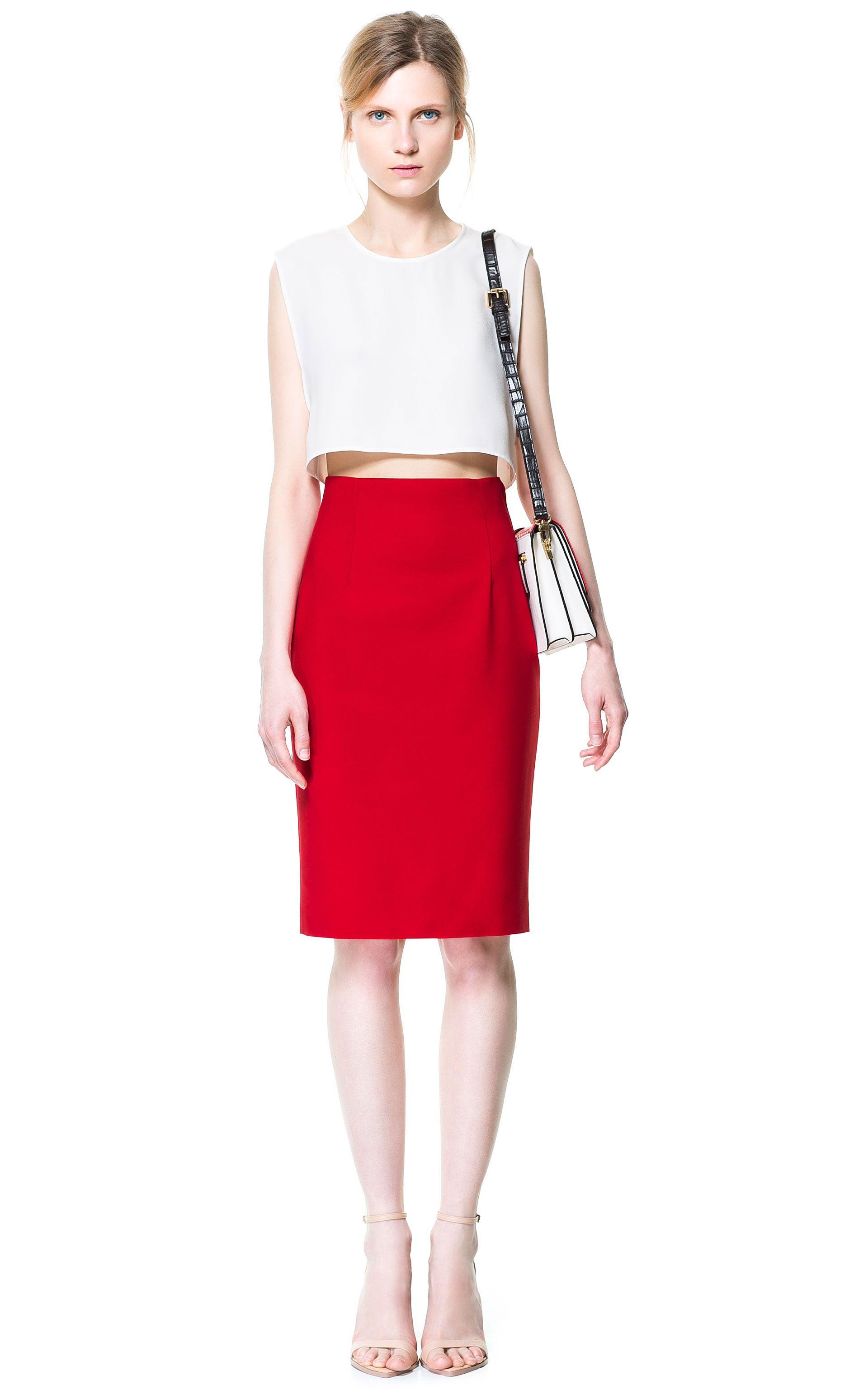 8adffeae5c High Waist Pencil Skirt | Zara | Style | High waisted pencil skirt ...
