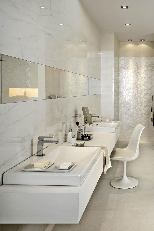 Marmor Fliesen Fur Den Edlen Blickfang Im Bad Badezimmerideen Fliesen Steinoptik