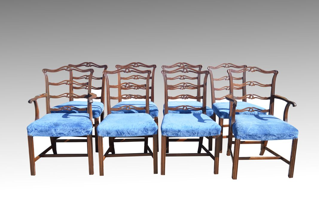 Fabulous Sold Set Of 8 Chippendale Ribbon Back Dining Chairs Twin Short Links Chair Design For Home Short Linksinfo