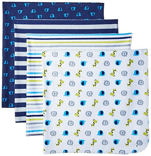 67f3eb354 Gerber Baby Boys  4 Pack Flannel Receiving Blanket