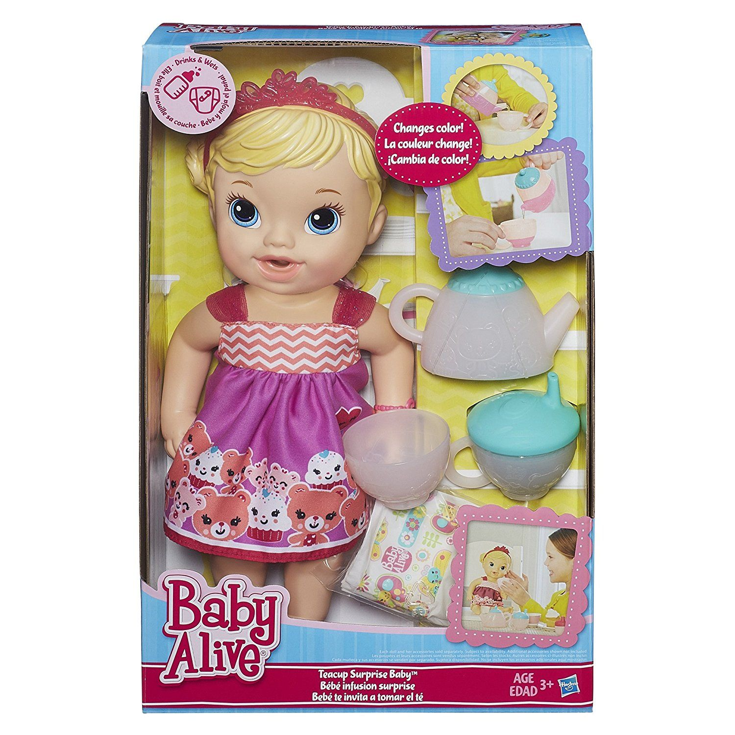 Baby Alive Lil Sips Baby Has A Tea Party Doll Blonde