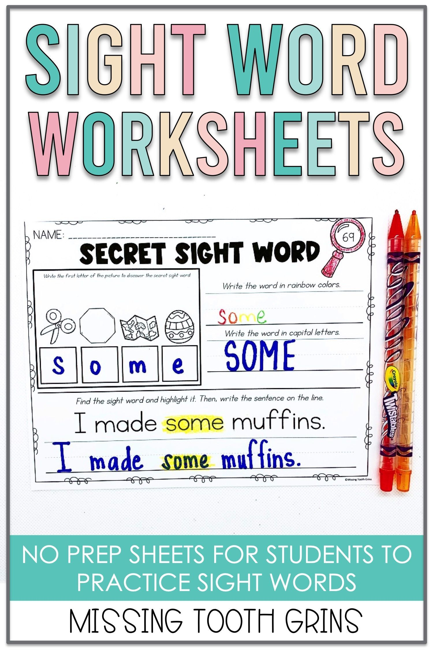 Sight Word Worksheets Distance Learning Sight Word Worksheets Writing Sight Words Sight Words [ 2250 x 1500 Pixel ]