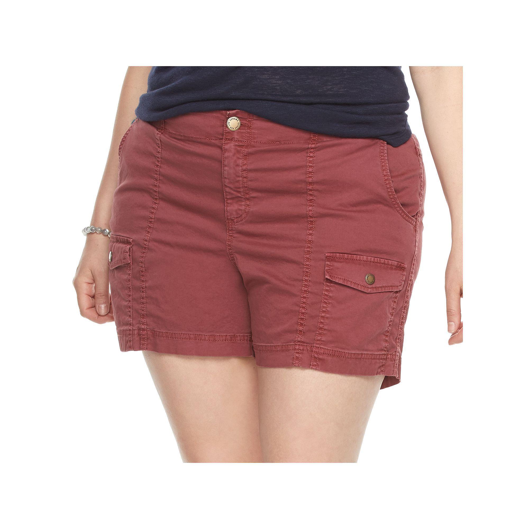 Plus size sonoma goods for lifeâue comfort waist cargo shorts