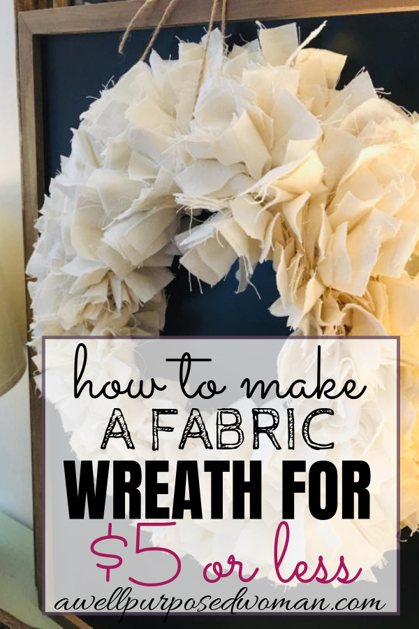 Photo of DIY Fabric Wreath Tutorial- How to Make for $ 5 or Less