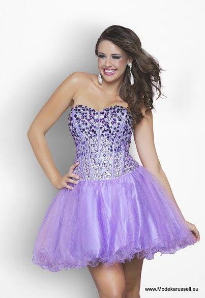 abendkleid kurz in lila mit zier steine  blush prom dress