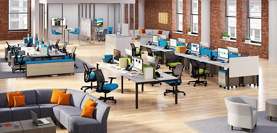 Empower  HON Office Furniture  Open office design, Hon office