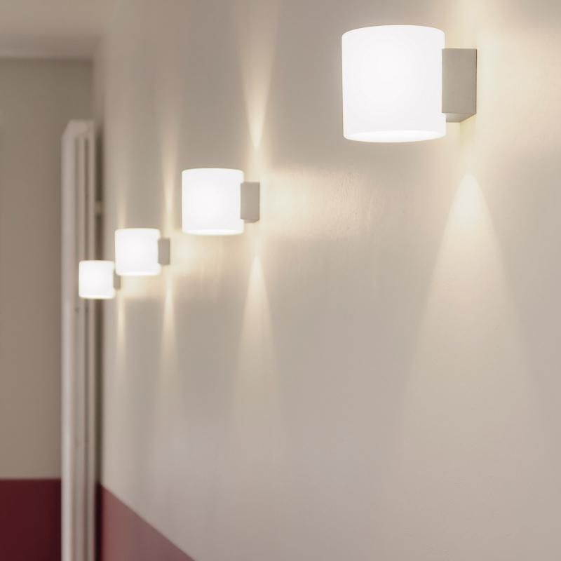 LED Wand Leuchte Glas Opal Design Lampe Treppenhaus Flur Wohn Zimmer Beleuchtung