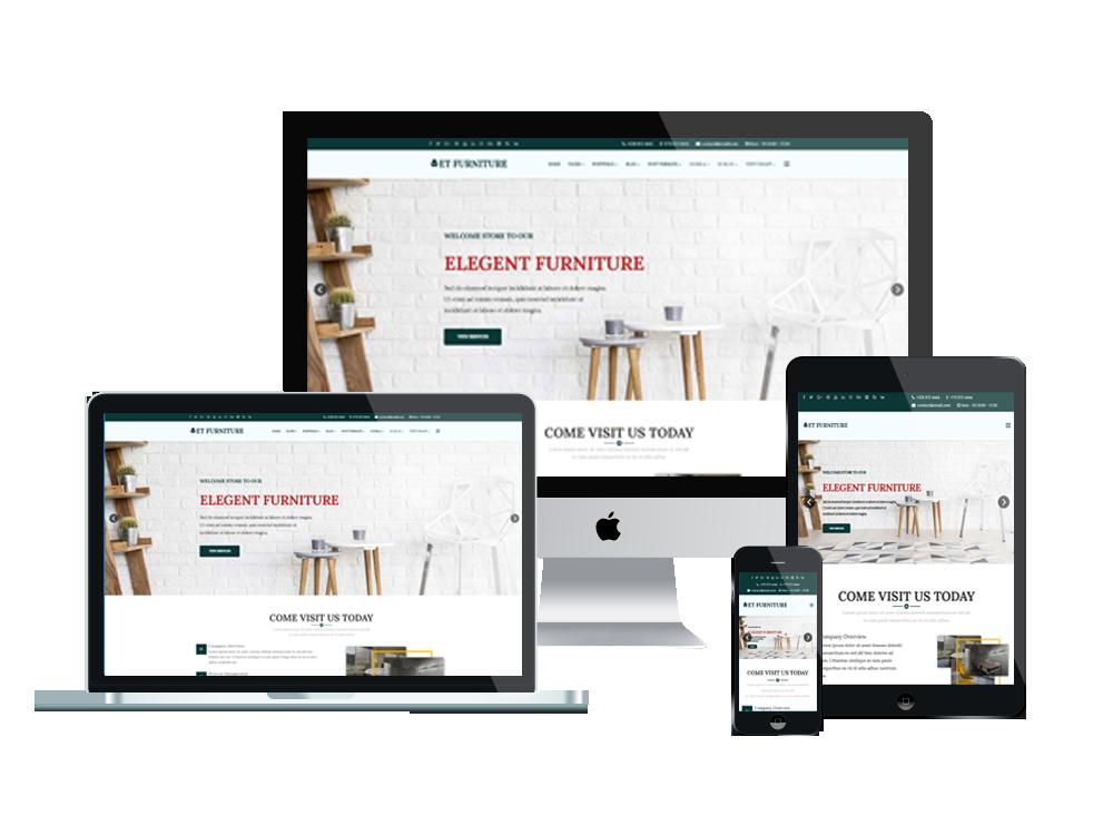 ET Furniture Free Responsive Furniture Website Templates