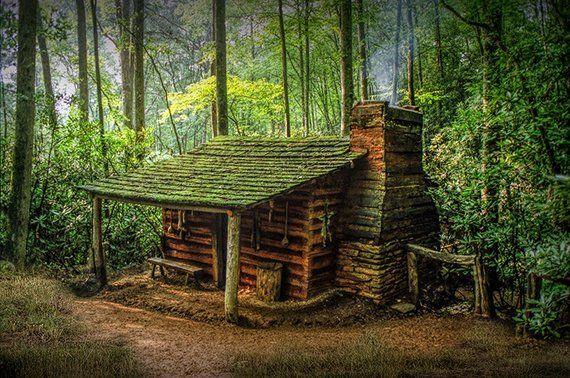 Log Cabin Appalachian Mountains Forest Cabin Smoky