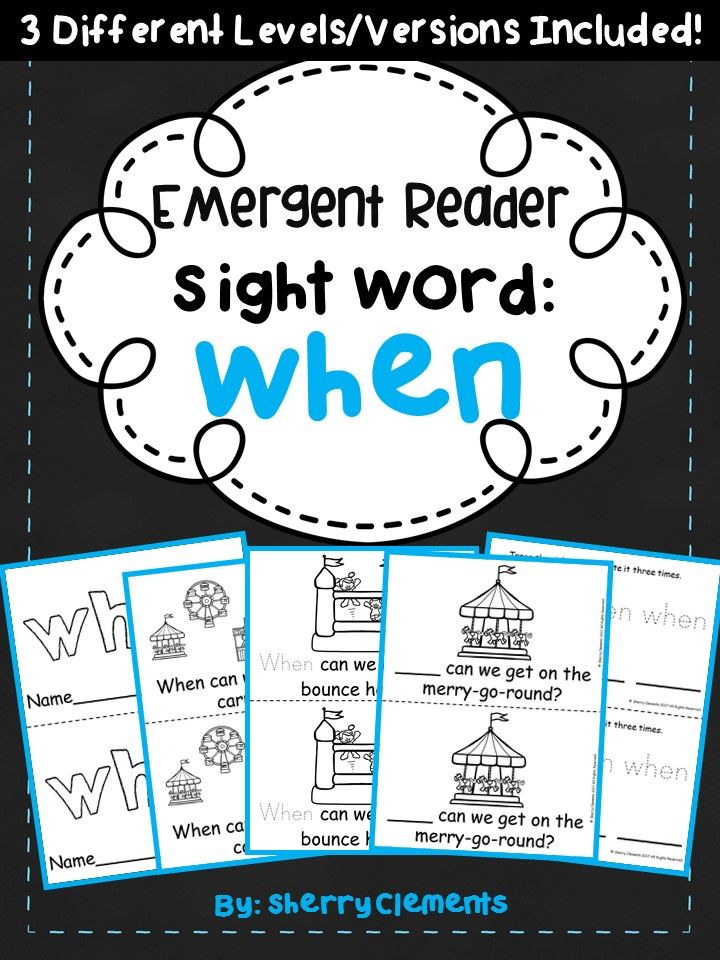 Sight Word Reader WHEN