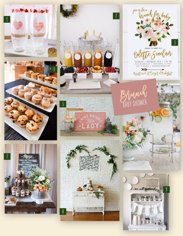 Nine Ideas On How To Pull Off A Lovely Baby Shower Brunch To Celebrate The New Mama To Be Co Baby Shower Brunch Food Baby Shower Brunch Sprinkle Baby Shower