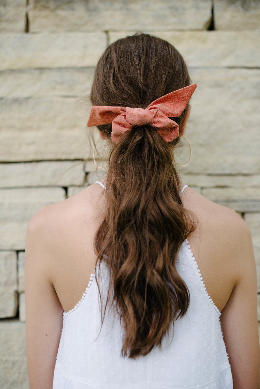 Terracotta Scrunchie Scrunchie Hairstyles Top Knot Hairstyles Hair Ribbons