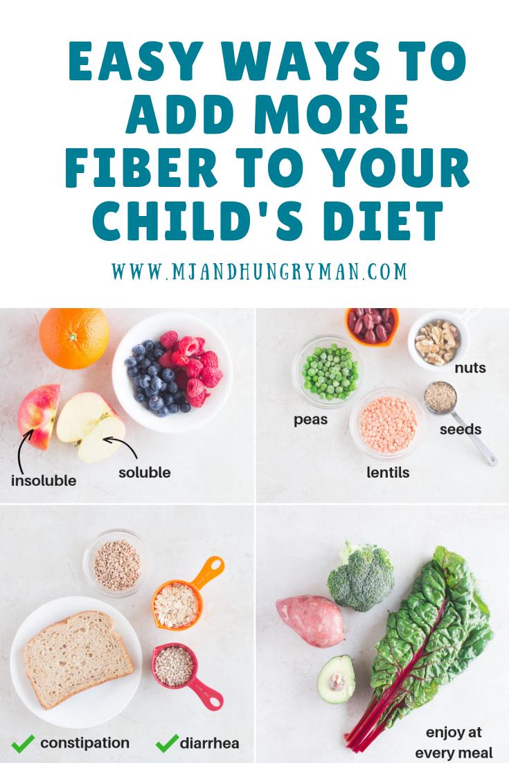 Easy Ways To Add More Fiber To Your Child S Diet Fiber Foods For Kids High Fiber Snacks Kids Diet