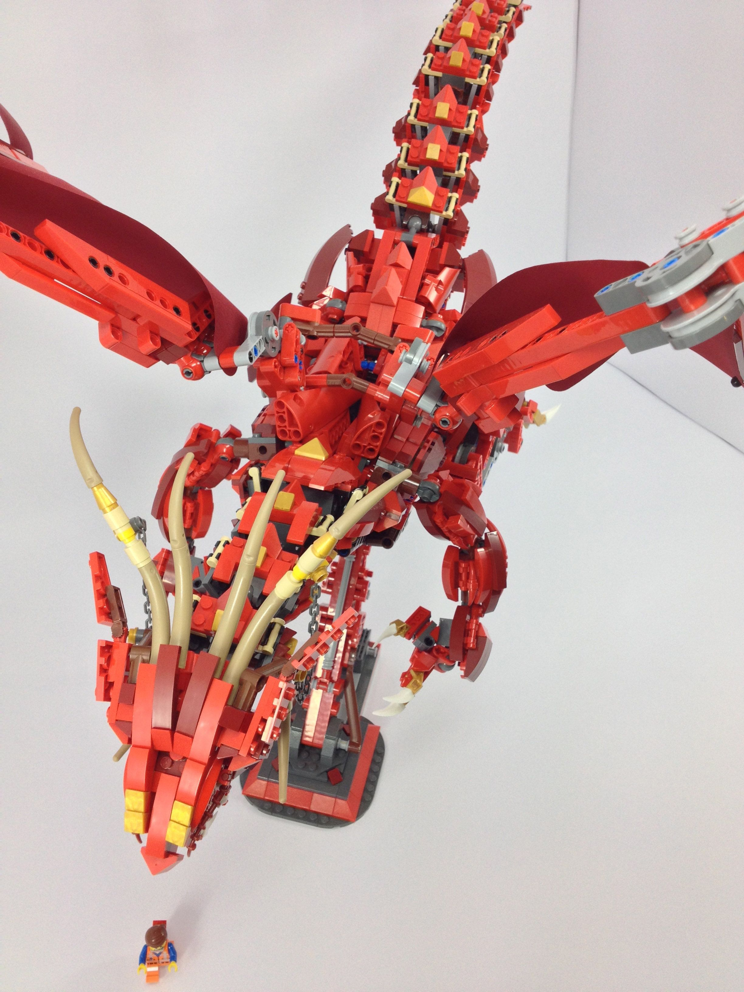 how to build a simple lego dragon