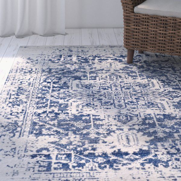 Hillsby Persian Inspired Wool Navy Area Rug Area Rugs