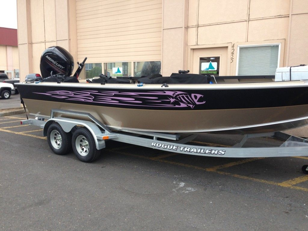 Coho Design Makes Boat Graphics And Custom Vinyl Boat WrapsCoho - Boat decals custom graphics